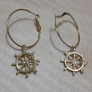Sailor Wheel Drop Earrings